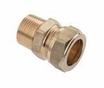 """Afbeelding van Messing-knelkoppeling, recht  voor buis- 12 - 28 mm x 3/8 - 1"""""""