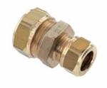 Afbeelding van Messing-knelkoppeling, recht/verloop voor buis-Ø 12 - 28 mm / 8 - 22 mm