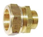 """Afbeelding van Messing-knelkoppeling, recht / US met cilindrisch uitwendig schroefdraad voor buis-Ø 8 - 42 mm / 3/8 - 1 1/4"""""""