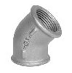 Afbeelding van Fitting van smeedbaar gietijzer bocht 45 graden bi/bi