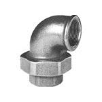 Afbeelding van Fitting van smeedbaar gietijzer knie schroefverbinding 90 graden bi/bi conisch afdichtend