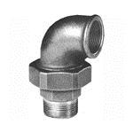 Afbeelding van Fitting van smeedbaar gietijzer knie schroefverbinding 90 graden bi/bu conisch afdichtend