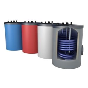 Picture of Onderstel-drinkwaterboiler, 120 liter staand, met aansluitingen boven