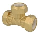 Afbeelding van Knelkoppeling voor PE, PVC buizen T-stuk