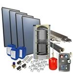 Afbeelding van set: 'O4PP4-500H1' - 4plus 4 x vlakkeplaatcollector voor schuindak 500 liter hygiëneboiler