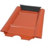 Afbeelding van Metalen dakbedekking paneel type beton rood