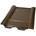"""Afbeelding van Metalen dakbedekking paneel """"Type beton"""" uitvoering: bruin, metalen ontwerp"""